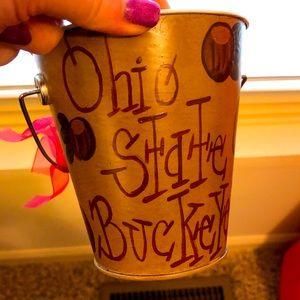 Ohio State OSU Decorative Tin Cup